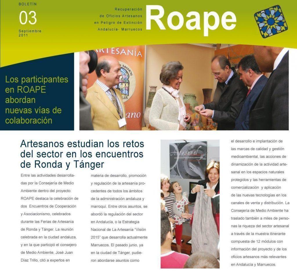 "roape ""recuperación de oficios artesanos en peligro de extinción"