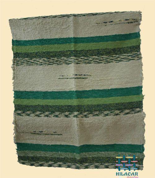 Jarapa Alpujarreña tonos verdes y beis