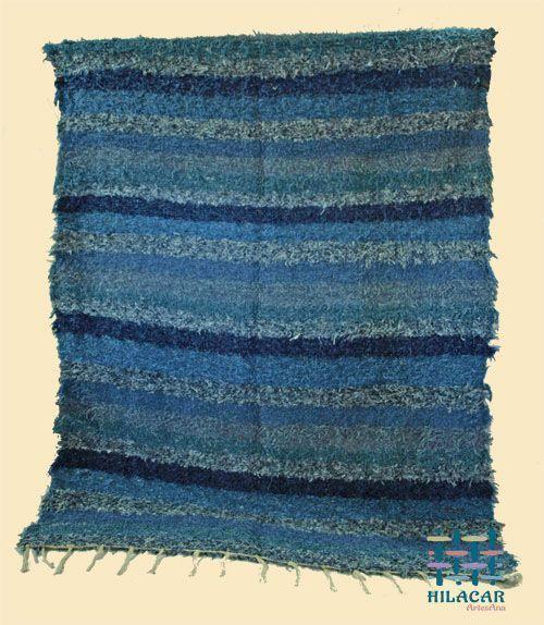 alfombra Alpujarreña tonos azules