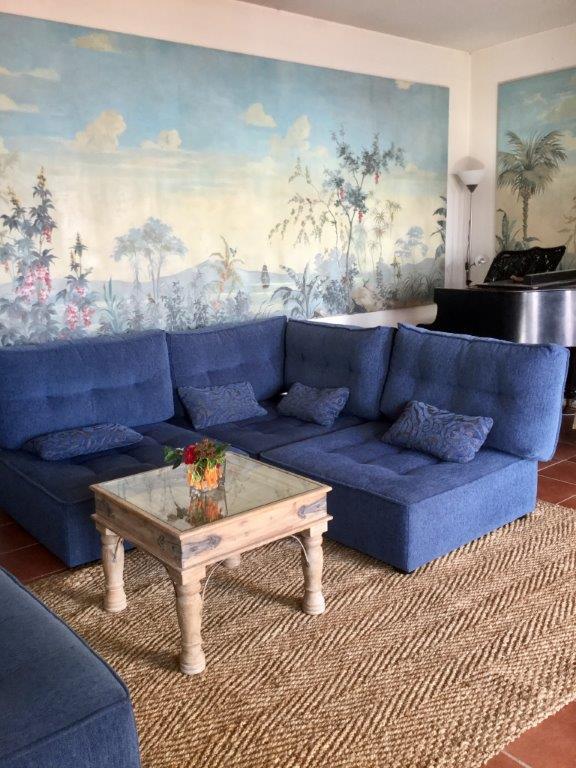 Jarapa,alfombra de yute en salón