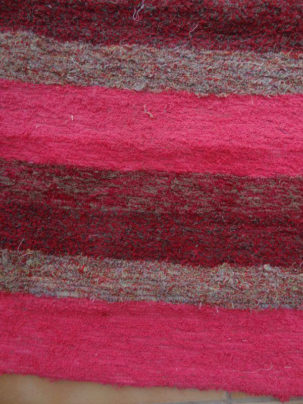 Jarapa alpujarreña en tonos rosas