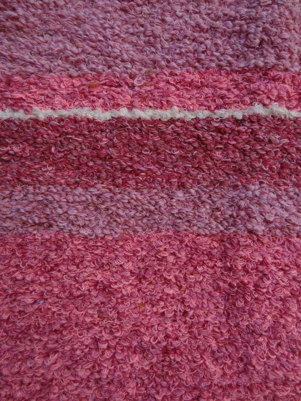 Jarapa artesana en tonos rosa