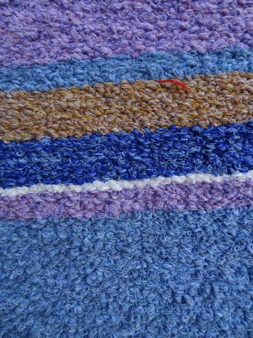 Jarapa artesana en tonos azules