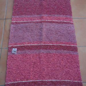 Jarapa pie de cama artesana tonos rosas