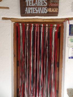 cortina de tiras de jarapa