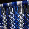cortinas de tiras en tonos azules