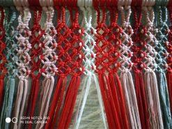 jarapas tiras tonos rojos