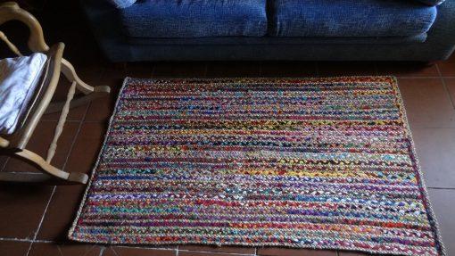 Jarapa alfombra yute con tela