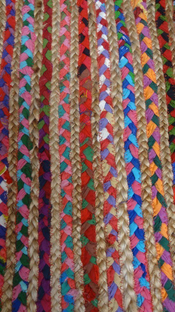 jarapa alfombra de yute con tela