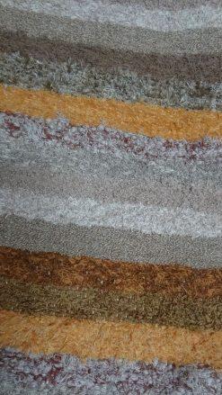 jarapa, alfombra alpujarreña en tonos marron claro de pelo extra
