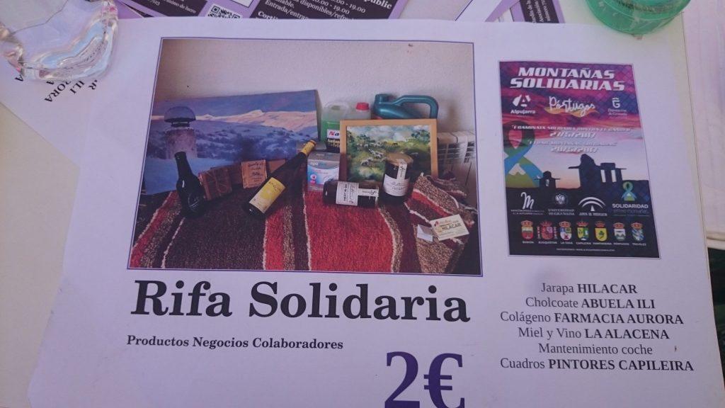 Rifa Solidaria para solidaridad entre montañas