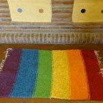 Jarapa con los colores de la bandera gays.
