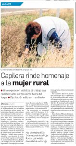 Exposicion con motivo del día internacional de la mujer Rural