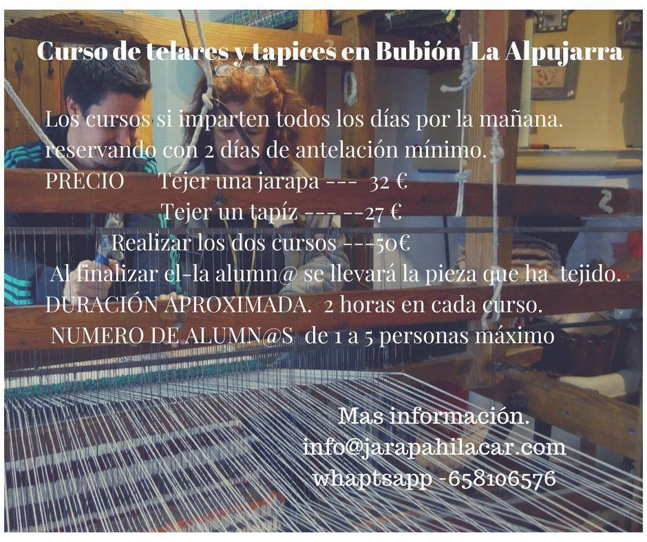 Curso de tapices y telares en Bubión La Alpujarra