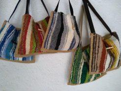 Bolsos de jarapa tejidos en La Alpujarra