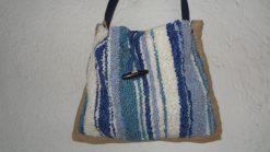 Bolso de jarapa Alpujarra en azul
