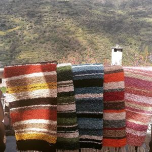 Jarapas alpujarreñas fabricadas por Ana Martínez
