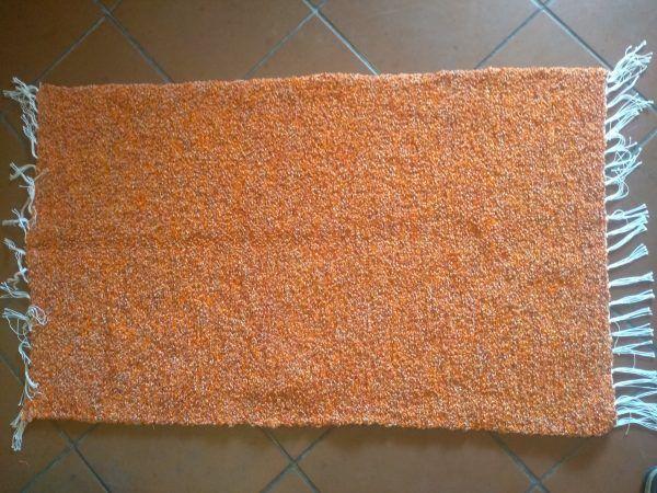 Jarapa artesana Alpujarreña en naranja lisa