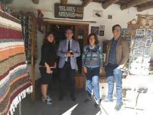 Telar de jarapas Hilacar, declarado Lugar de Interes Turistico de Andalucía en Bubión, La Alpujarra Granada, Andalucía