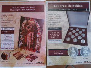 Venta del periodico Ideal en el telar de jarapas Hilacar.