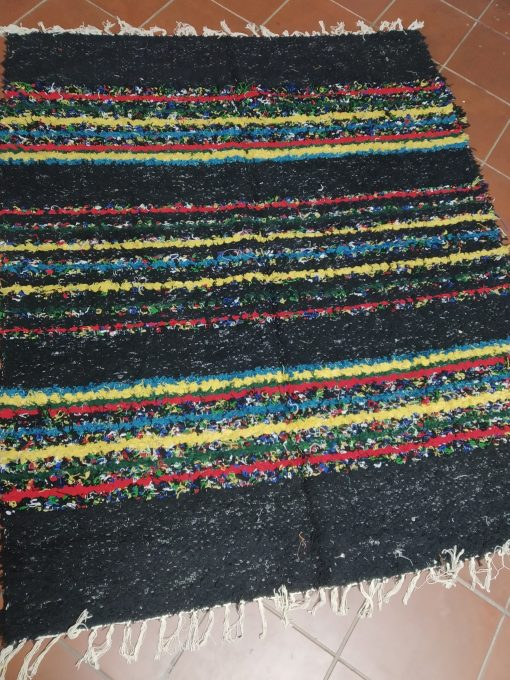 Jarapa Alpujarreña artesana en tonos negros
