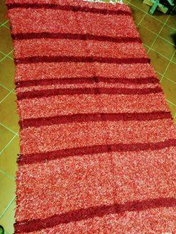 jarapa de pelo extra tonos rojos con granate