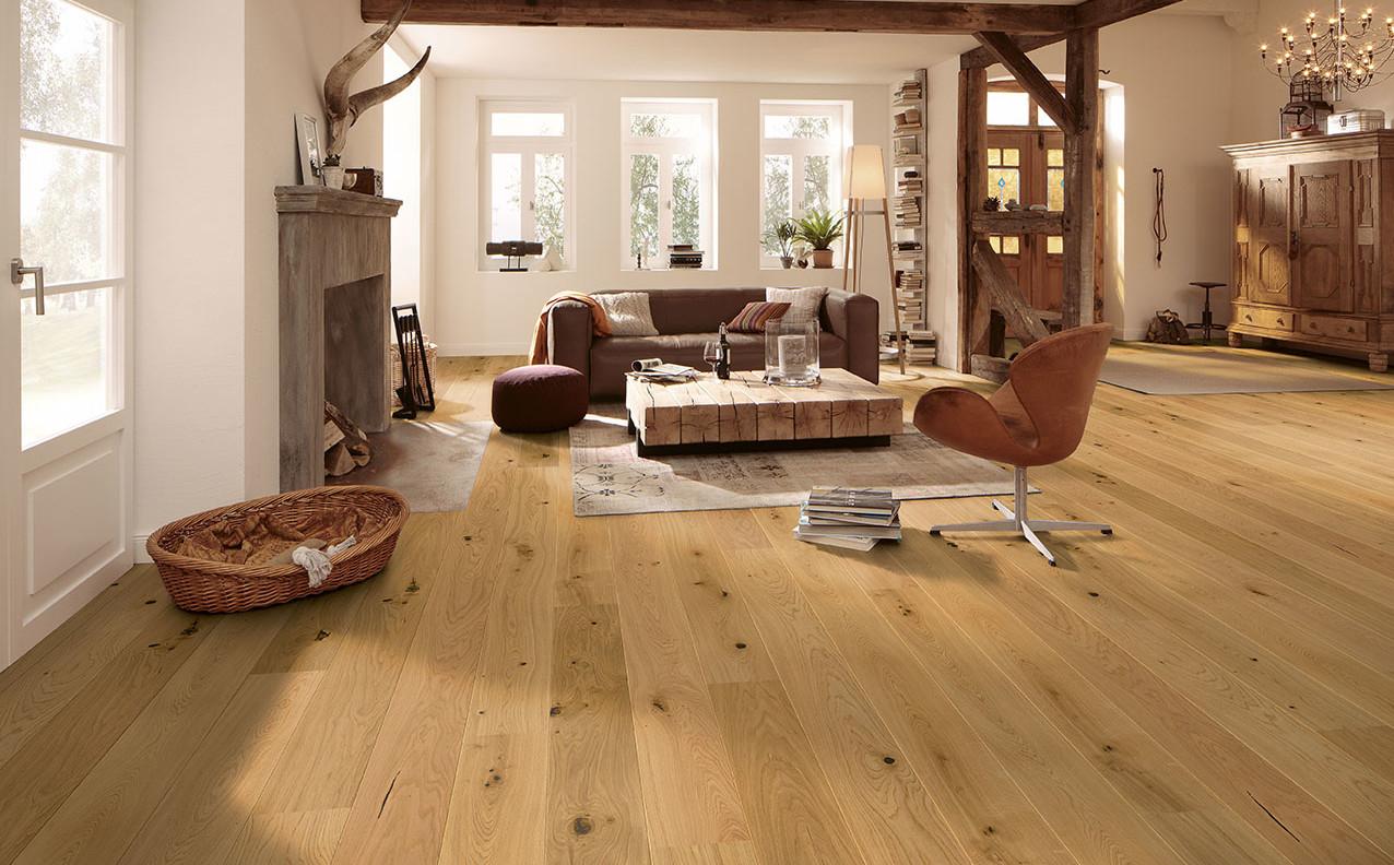 Suelo de madera en casa de campo